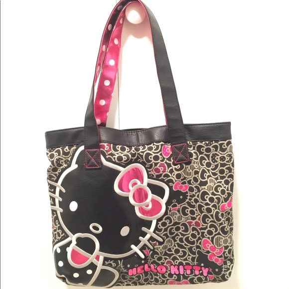 ad4f37c4b Loungefly Handbags - Loungefly x Hello Kitty Leather/Embroidered Tote